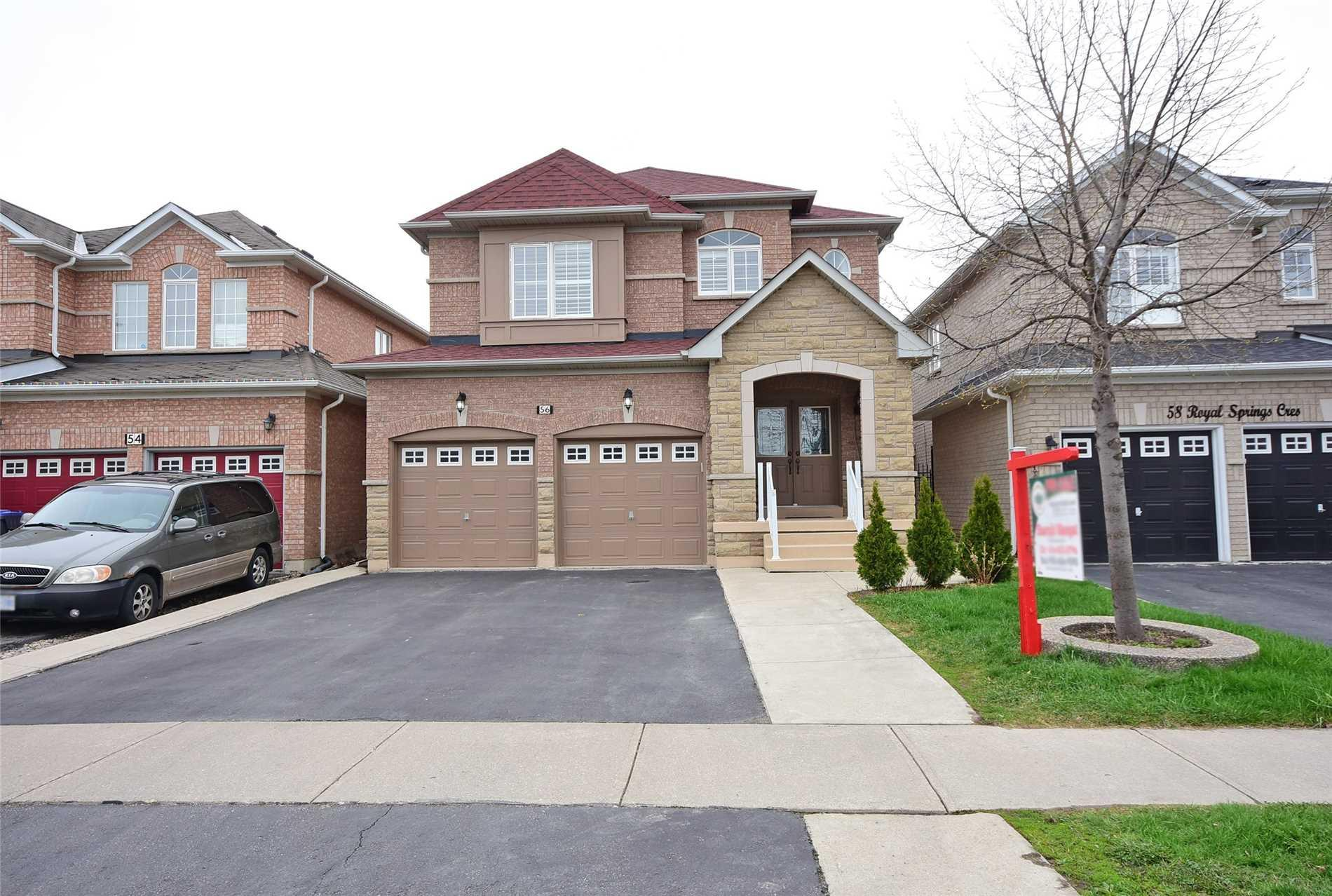 Magnificent 56 Royal Springs Cres Brampton W4444261 Zoocasa Beutiful Home Inspiration Ommitmahrainfo